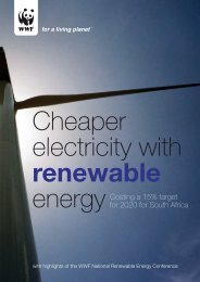 Cheaper electricity with renewable energy - WWF South Africa