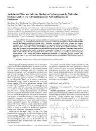 Antiplatelet Effect and Selective Binding to Cyclooxygenase by ...