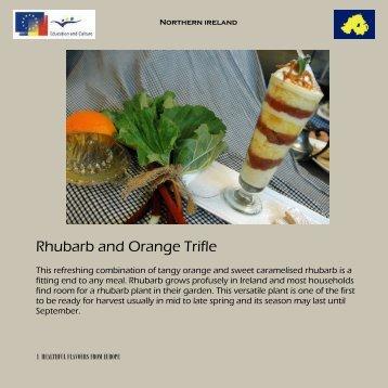 Rhubarb and Orange Trifle - Comenius Multilateral - Healthful ...