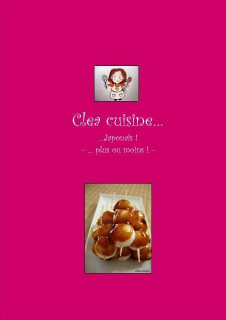Clea Cuisine Japonais 1 - Canalblog