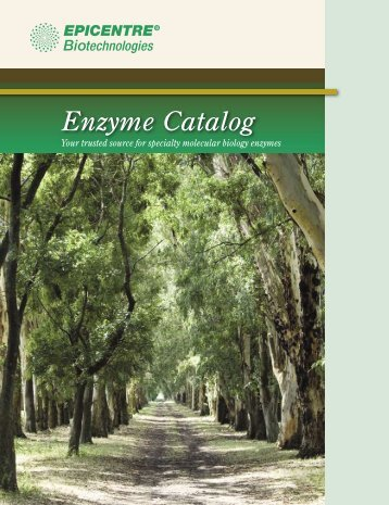 EPICENTRE Enzyme Catalog-Beta/Int'l version