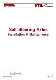 Self Steering Axles - York Transport Equipment
