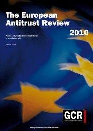 The European Antitrust Review 2010