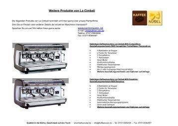 Weitere Produkte von La Cimbali - Kaffeenudel