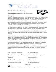 Subject-Verb Agreement Activity - AzarGrammar.com