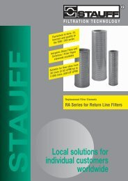 Replacement Filter Elements - RA Series for Return Line Filters - Stauff