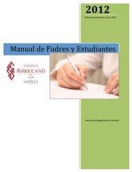 Manual - Students and Parents - 2012 - Colegio Americano del Sur