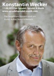 Konstantin Wecker - Sprudel, Sprudel & Musik