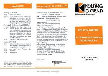 POLITIK DIREKT! - - Kolpingjugend - Kolpingwerk Deutschland
