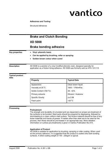 Clutch Lining Adhesive : Brake and clutch bonding araldite adhesive