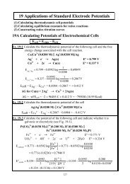 19 Applications of Standard Electrode Potentials
