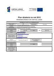 Plan działania na rok 2012 - Departament Europejskiego Funduszu ...