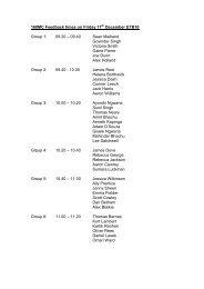 160MC Feedback times on Friday 17 December ETB10 Group 1 ...