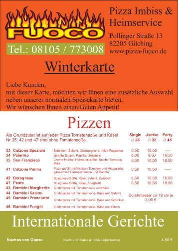 Pizza Imbiss & l Heimservice - Pizza Fuoco Gilching