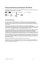 Gebrauchsanleitung ChromoQuant QF PCR kit - CyberGene AB