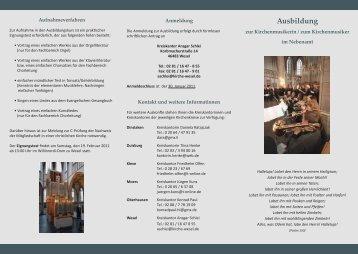 Ausbildung - Evangelischer Kirchenkreis Duisburg