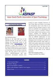 ASPASP Newsletter, April 2009 - APS Member Groups - Australian ...