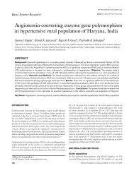 Angiotensin-converting enzyme gene polymorphism in hypertensive ...