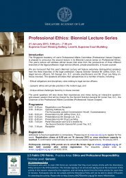 Professional Ethics: Biennial Lecture Series - Singapore Academy of ...