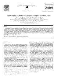 Multi-walled carbon nanotubes on amorphous carbon films
