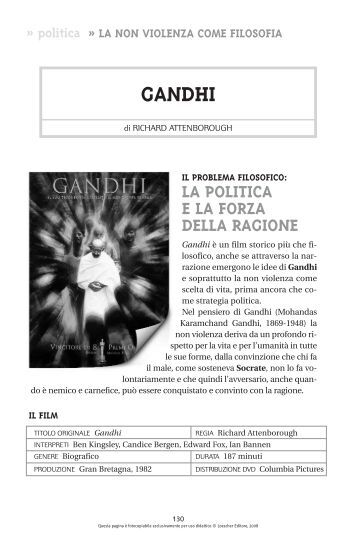 Recensione cinematografica: Gandhi - Loescher Editore