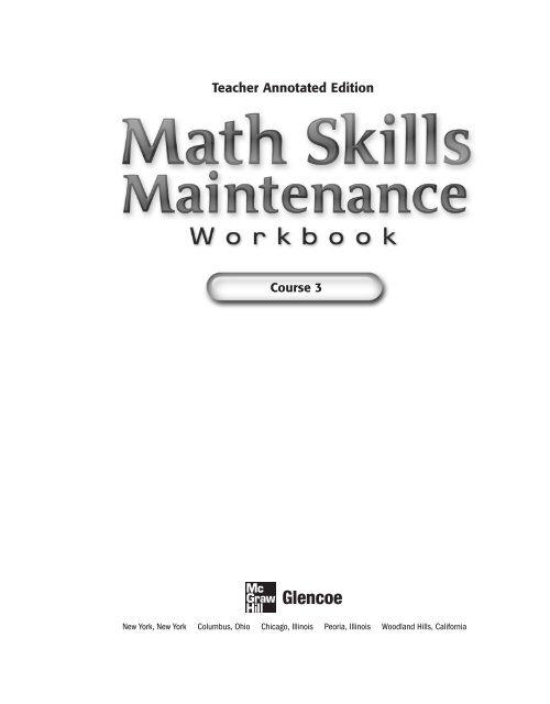 Math Skills Maintenance Course 3 Glencoe