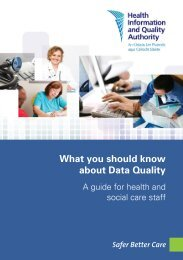What you should know about Data Quality - hiqa.ie