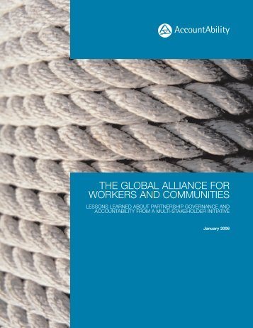 the global alliance for workers and communities - CommDev