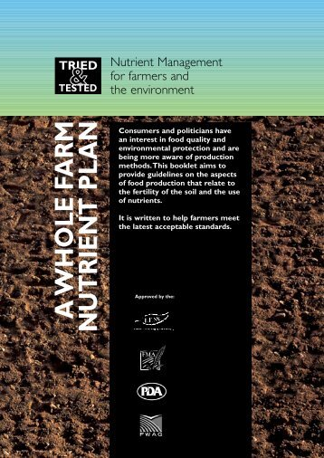 A Whole Farm Nutrient Plan - Ontario Agri-Environmental Programs ...