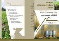 Tiroler Almbauerntag 2009 - Braunvieh Austria