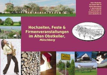 Hochzeiten, Feste & Firmenveranstaltungen im ... - Alter Obstkeller