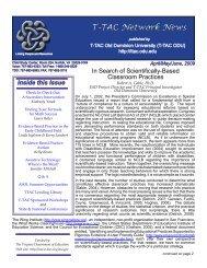 April/May/June 2009 - TTAC ODU - Old Dominion University