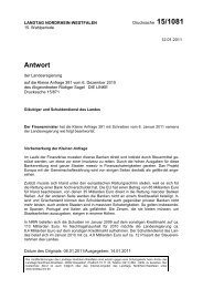 Drs. 15/1081 vom 12.01.2011 - Sagel, Rüdiger (Die Linke)