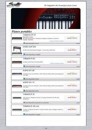 télécharger notre catalogue pianos portables au ... - Scotto Musique