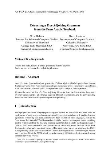 Extracting a Tree Adjoining Grammar from the Penn Arabic Treebank
