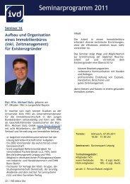 Seminarprogramm 2011 - IVD Mitte Ost