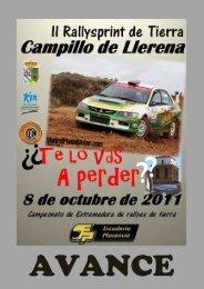 Descargar Libro de la prueba II Rallysprint de Campillo de Llerena