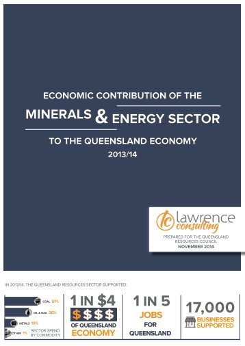 Economic Impact of Resources Sector on Qld Economy 2013-14