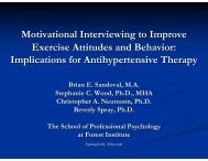 Motivational Interviewing to Improve Exercise Attitudes and Behavior