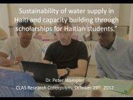 October 19, 2012 GVSU CLAS Research Colloquim Talk