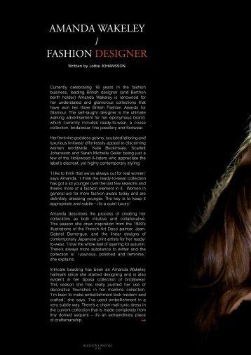 AMANDA WAKELEY / FASHION DESIGNER - Berthon