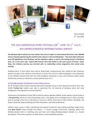 THE 2012 BORDEAUX WINE FESTIVAL (28 ... - Bordeaux fête le vin