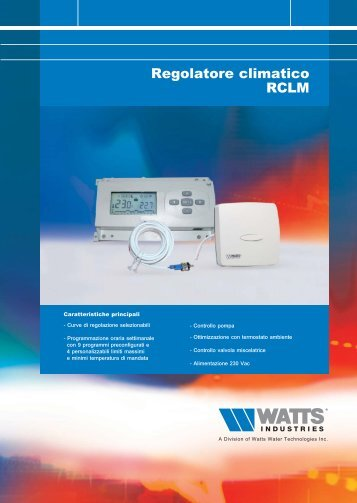 Regolatore climatico RCLM - WATTS industries
