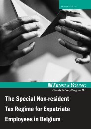 The special non-resident tax regime for expatriate employees - AWEX