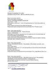 Agenda Janeiro de 2011 - Município de Barcelos