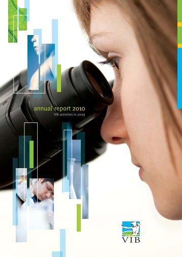 Annual report 2010 (pdf - 2MB) - VIB