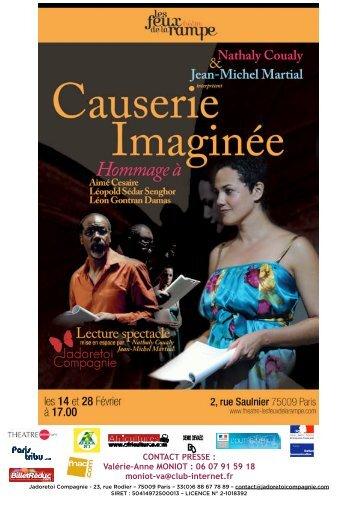 DP DEF CAUSERIE IMAGINÉE Janv 10 - revue-spectacles.com