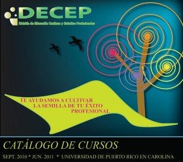 CATÁLOGO DE CURSOS - Universidad de Puerto Rico en Carolina
