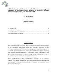 Technical guidelines - Alfi