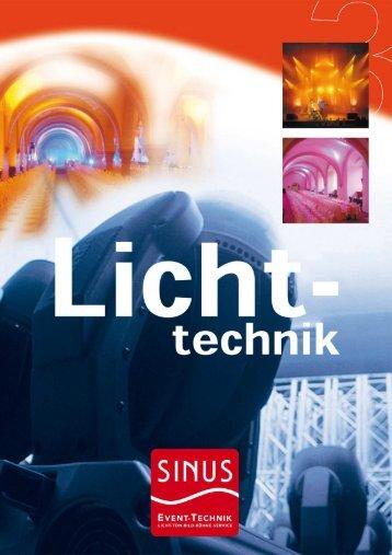 Kategorie: Lichttechnik (569.54 KB) - SINUS Event-Technik GmbH